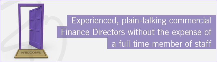 Experienced, plain-talking commercial Finance Directors without the expense of a full time member of staff